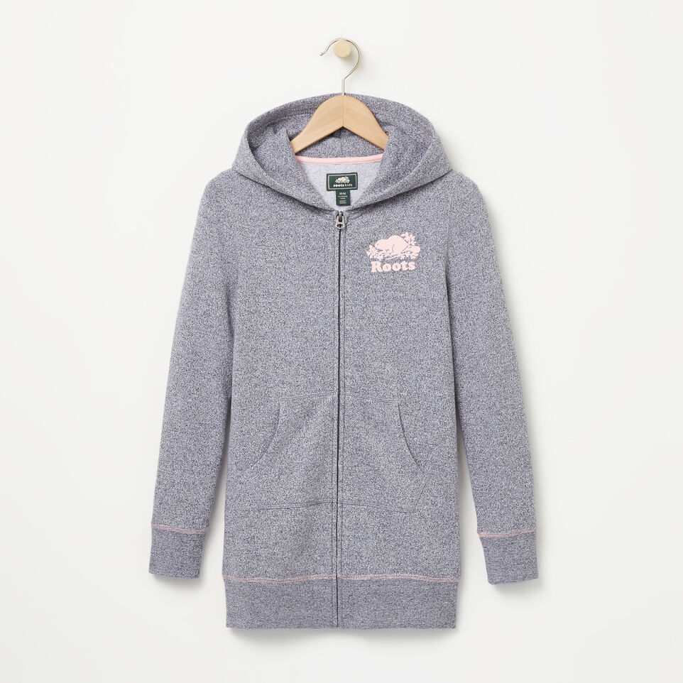 Roots-undefined-Girls Cooper Long Full Zip Hoody-undefined-A