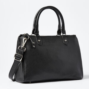 Roots-Leather Bestsellers-Small Grace Bag Prince-Black-A