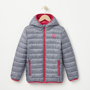Roots-Kids Categories-Girls Roots Zip Down Packable Jacket-Salt & Pepper-A