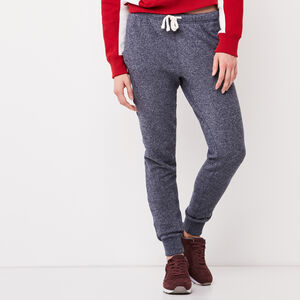 Roots-Women Bottoms-Cozy Slim Cuff Sweatpant-Navy Blazer Pepper-A