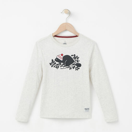 Girls Pom Pom Beaver T-shirt