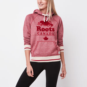 Roots-Women Sweatshirts & Hoodies-Roots Cabin Chenille Hoody-Lodge Red Pepper-A