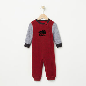 Roots-Kids Bestsellers-Baby Contrast Cooper Beaver Romper-Lodge Red Pepper-A