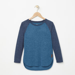 Roots-Sale Girls-Girls Jules Top-Blue Coral Mix-A