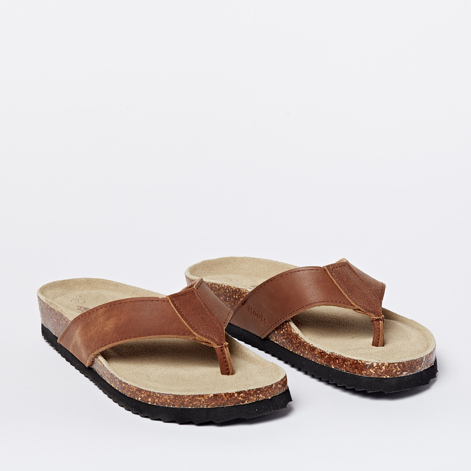Mens Natural Roots Thong Sandals