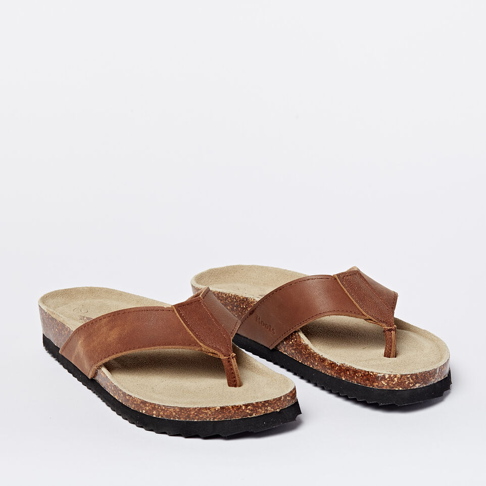 Roots-undefined-Mens Natural Roots Thong Sandals-undefined-B