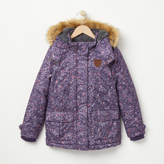 Roots-Kids Outerwear-Girls North Wind Parka-Valley Purple-A