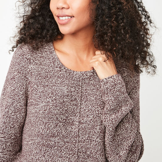 Roots-Women Sweaters & Cardigans-Faye Sweater-Crimson Mix-A