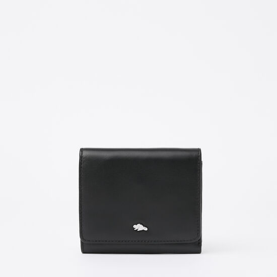 Roots-Women Wallets-Easy Trifold Wallet Box-Black-A