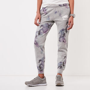 Roots-Women Bottoms-Water Colour Slim Cuff Sweatpant-Grey Mix-A