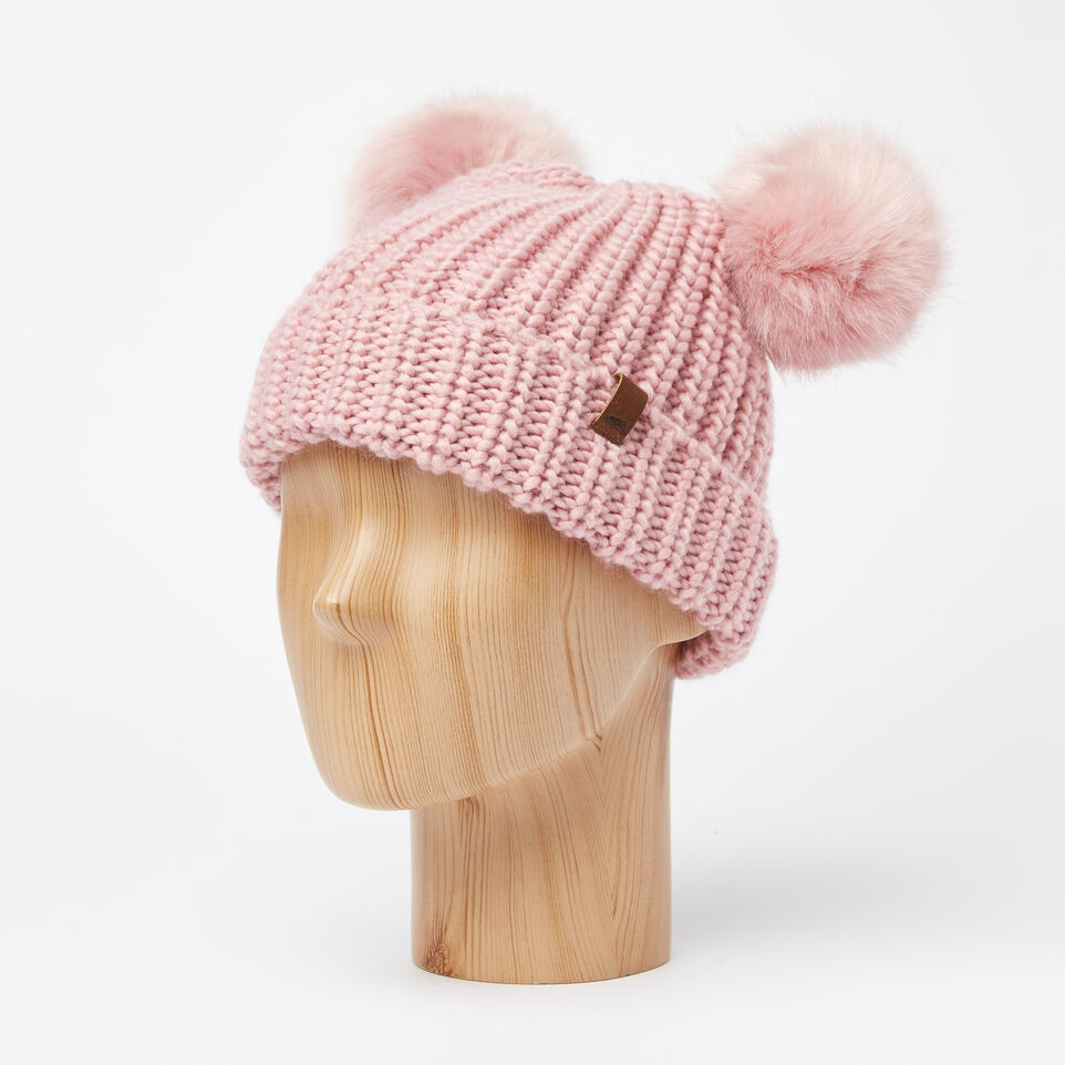 Roots-undefined-Girls Olivia Fur Pom Pom Toque-undefined-B