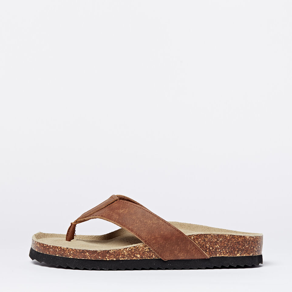 Roots-undefined-Mens Natural Roots Thong Sandals-undefined-A