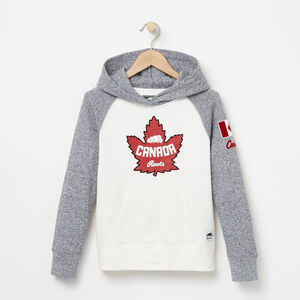 Roots-Gifts For Kids-Girls Heritage Canada Kanga Hoody-Pristine White-A