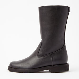 Roots-Women Footwear-Roll Over Boot Tribe-Jet Black-A