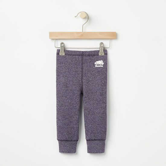 Roots-Kids Bottoms-Baby Roots Original Cozy Legging-Night Shade Pepper-A