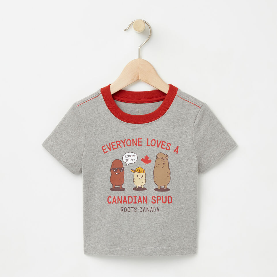 Roots-undefined-Baby Canadian Spud T-shirt-undefined-A