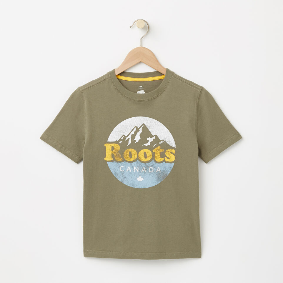 Roots-undefined-Garçons T-shirt Montagne Cooper-undefined-A