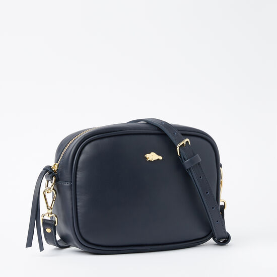 Roots-Leather Crossbody-Lorna Bag Bridle-Navy-A