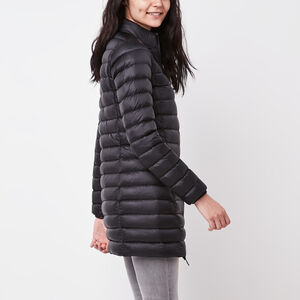 Roots-Women Jackets-Roots Long Down Packable Jacket-Black-A