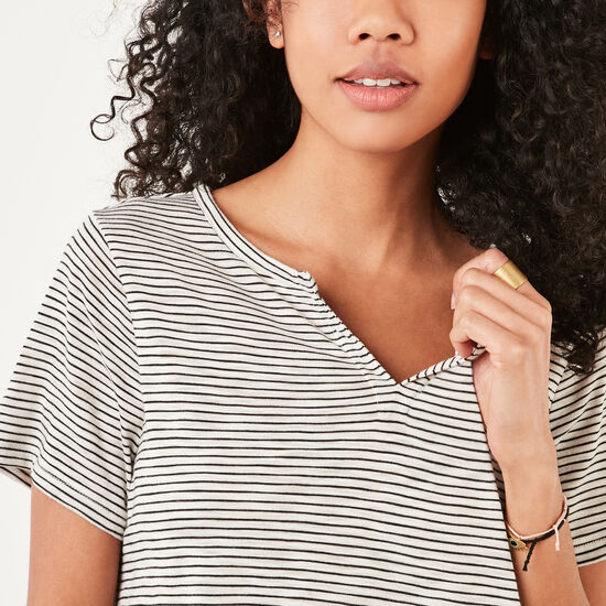 Roots-Women Short Sleeve T-shirts-Jodie Top-White-A