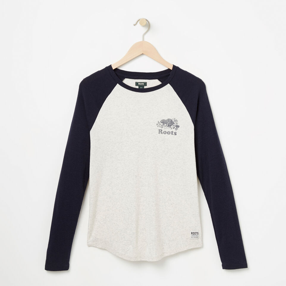 Roots-undefined-T-Shirt style baseball Cooper le castor-undefined-A