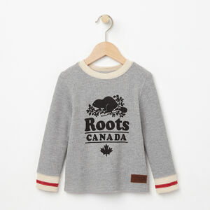 Roots-Kids Toddler Boys-Toddler Roots Cabin Waffle Top-Grey Mix-A