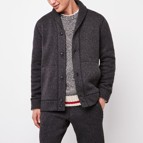 Roots-Men Sweaters & Cardigans-Campbell Shawl Cardigan-Black Mix-A