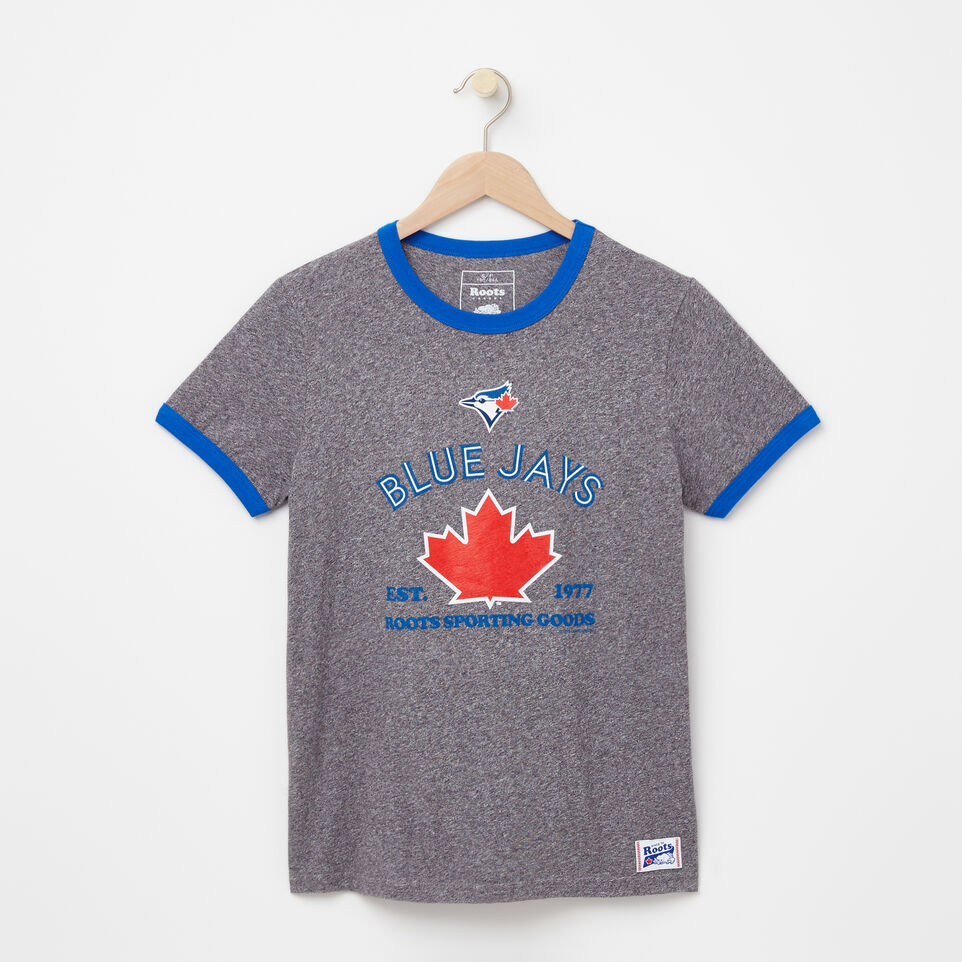Roots-undefined-Womens Blue Jays Maple Ringer T-shirt-undefined-A