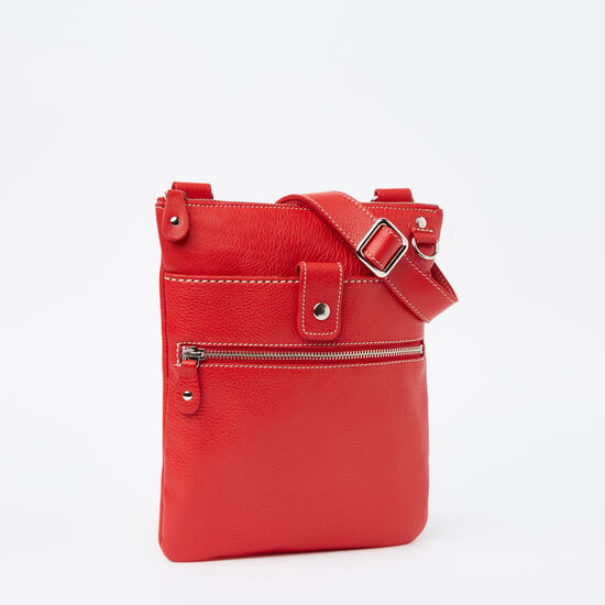 Roots-Women Roots Original Flat Bags-Small Venetian Prince-Canada 150 Red-A