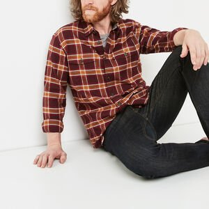Roots-Sale Men-Heritage Flannel Shirt-Crimson-A