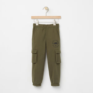 Roots-Kids Bottoms-Toddler Brandon Cargo Sweatpant-Olive Night Green-A
