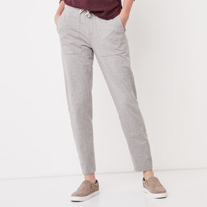 Roots-Women Bottoms-New Kelby Jogger-Grey Mix-A