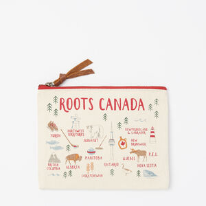 Roots-Men General Store-Canada Canvas Clutch-Cloudy White-A