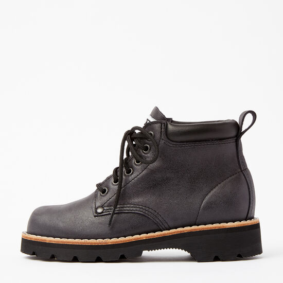 Roots-Shoes Women's Shoes-Womens Tuff Boot Tribe-Jet Black-A