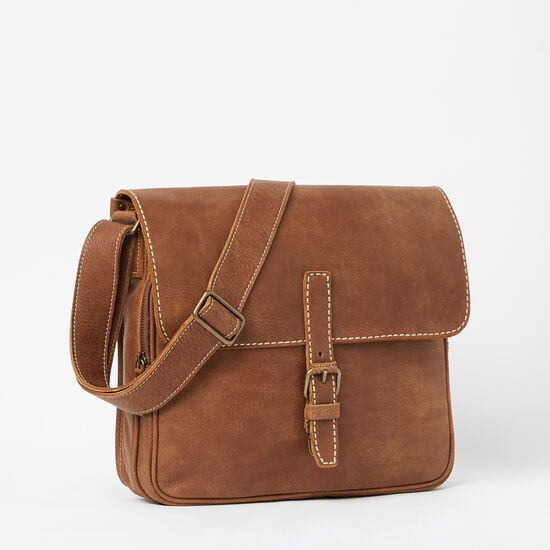 Roots-Leather Briefcases & Messengers-Air One Bag Tribe-Africa-A