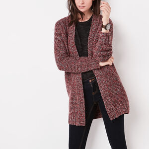 Roots-Women New Arrivals-Spencer Cardigan-Lodge Red Mix-A