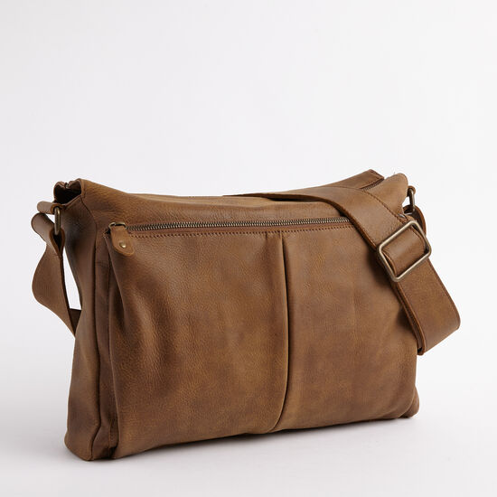 Roots-Leather Briefcases & Messengers-Cargo Messenger Tribe-Africa-A