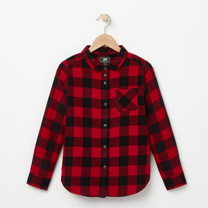 Roots-Gifts For Kids-Girls Algonquin Shirt-Lodge Red-A