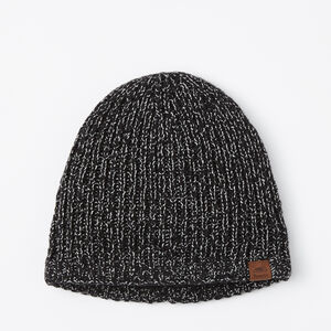 Roots-Men Hats-Snowy Fox Rib Toque-Black Fox-A