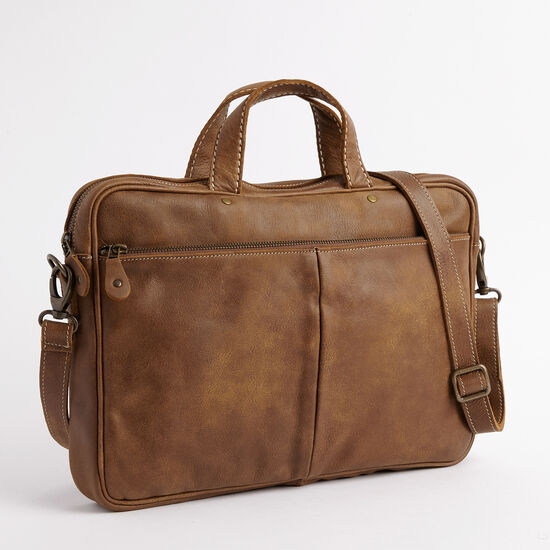 Roots-Leather Briefcases & Messengers-Slim Laptop Case Tribe-Africa-A