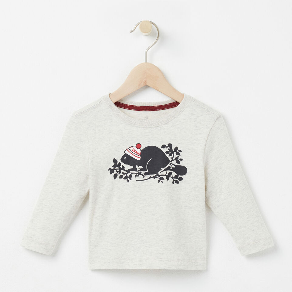 Roots-undefined-Baby Pom Pom Beaver T-shirt-undefined-A