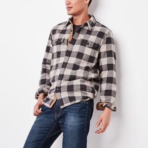 Roots-Gifts For Him-Algonquin Flannel Shirt-Flaxseed Mix-A