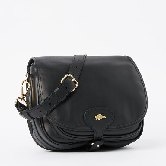 Roots-Leather Handbags-English Saddle Box-Black-A