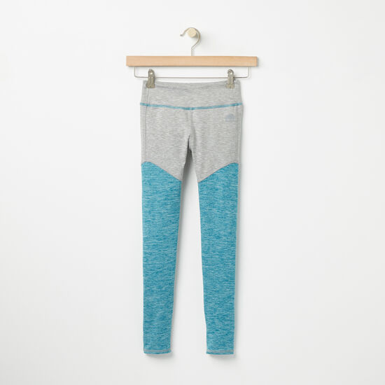 Roots-Kids Bottoms-Girls Roots Active Legging-Blue Coral Mix-A