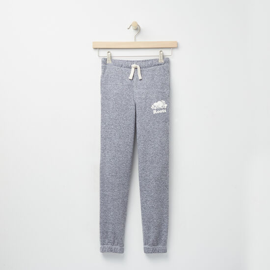 Roots-Kids Bottoms-Girls Roots Salt and Pepper Original Sweatpant Rts-Salt & Pepper-A