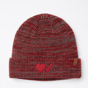 Roots-Women Hats-Heart & Stroke Toque-Lodge Red-A