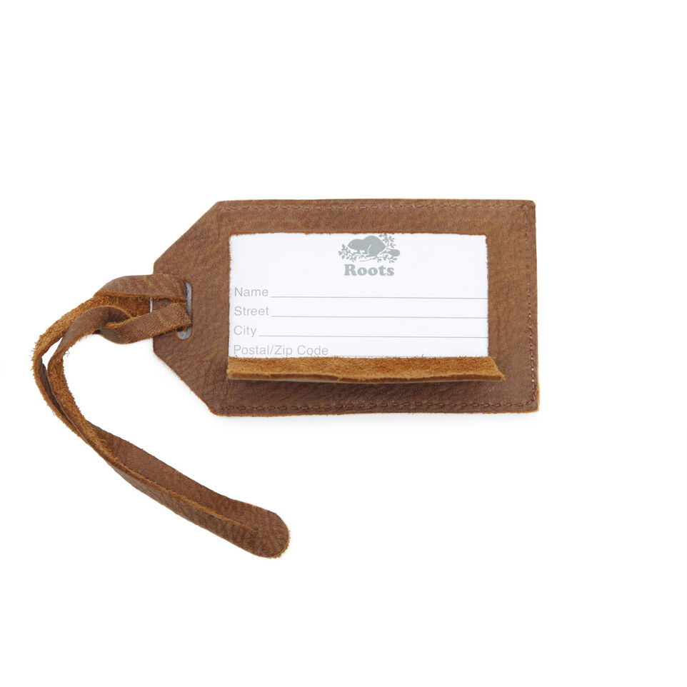 Canada Luggage Tag Tribe Leather | Waistpack and Travel | Roots