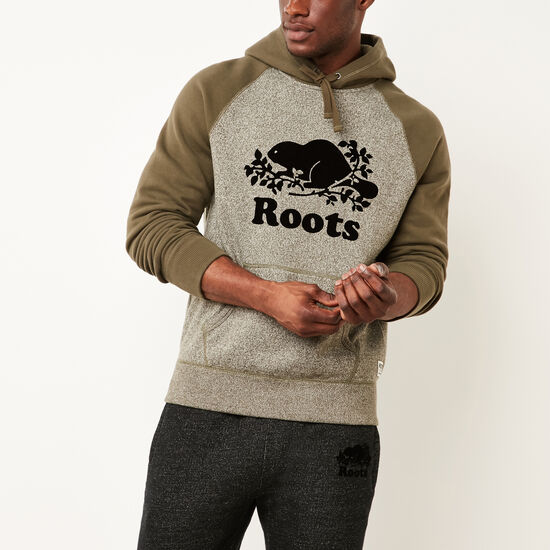 Roots-Men Tops-Contrast Kanga Hoody-Olive Night Pepper-A