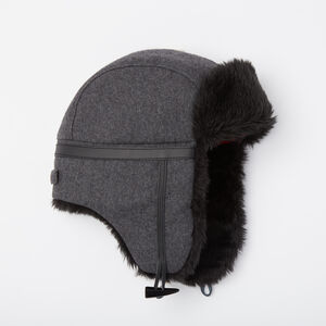 Roots-Sale Accessories-Mens Revelstoke Trapper Hat-Charcoal Mix-A
