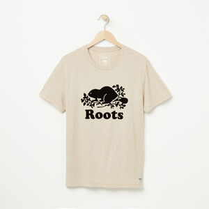 Roots-New For January Men-Cooper Beaver T-shirt-Flaxseed Mix-A